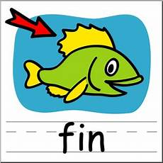 clipart pictures clip basic words fin color labeled i 149770