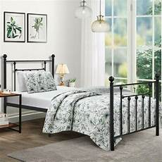 size bed frame vecelo metal platform mattress