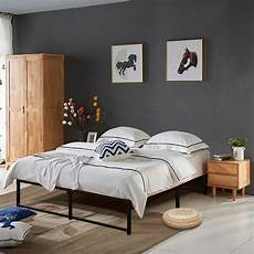 shop vecelo metal platform beds 14 inch storage bed frames