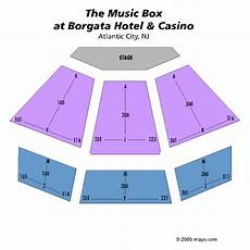 Borgata Theater Seating Chart Music Box At The Borgata Atlantic City Tickets
