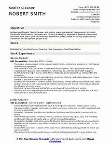 Cleaning Business Resume Cleaner Resume Samples Qwikresume
