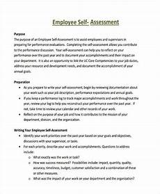 Employee Assessment Sample Free 41 Self Assessment Examples Amp Samples In Pdf Doc