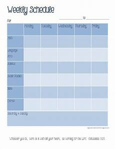 Weekly Schedule Printable The Happy Homeschooler Our Homeschool Planner A Free