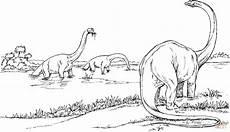Dinosaurier Brachiosaurus Ausmalbilder Brachiosauruses In The Lake Coloring Page Free Printable