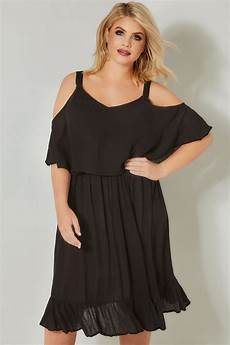 limited collection black layered cold shoulder