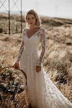 zinnia 3d lace bohemian wedding dress dreamers and