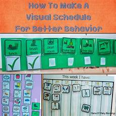 Make Your Own School Schedule Visual Schedule For Better Behavior In Spd And Asd Kids