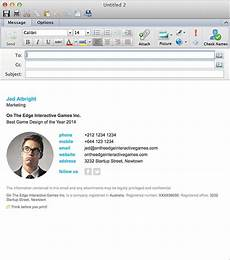 Outlook Signature Template Email Signatures For Outlook Mac 2016