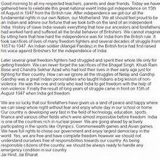 Motherland Essay 24 Best Independence Day Speech In English Images