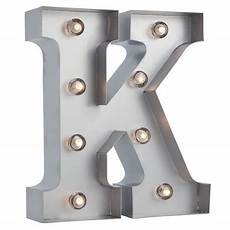 Metal Letters With Lights Wholesale Silver Marquee Light Letter K Led Metal Sign 8 Inch