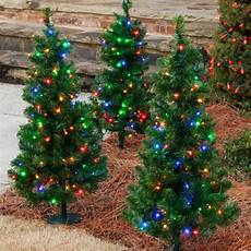 Battery Outside Christmas Tree Lights Walkway And Tabletop Trees 2 Walkway Pre Lit Winchester