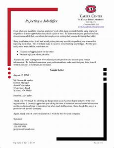 Letter To Turn Down A Job Offer Free How To Politely Turn Down A Job Offer 8 Samples