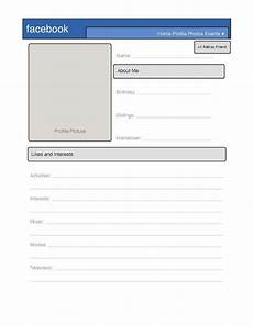 Profile Templates Simple Facebook Profile Template Great For Introduction