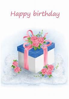 E Birthday Card Floral Gift Birthday Card Free Greetings Island