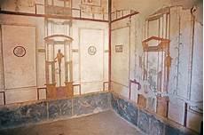 pinturas fresco en las paredes romanas antiguas foto