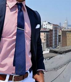 Light Pink Shirt What Color Pants Pink Shirt Paired With Navy Blue Tie And Coat Men S
