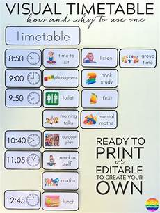 Make Your Own Class Schedule Why And How To Use Visual Timetable Effectively