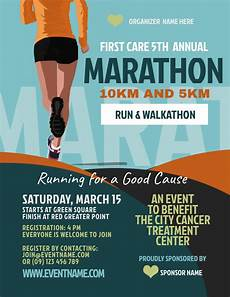 Walk A Thon Posters Copy Of Marathon Flyer Template Postermywall