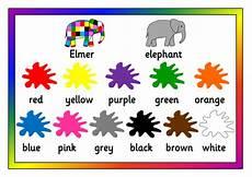 Elmer S Colours Resource Pack Display Games Activities