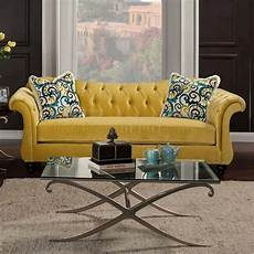 antoinette ii sm2223 sofa in royal yellow fabric w options