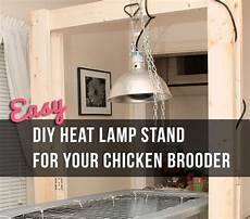 Tractor Supply Light Up Chicken Easy Diy Heat Lamp Stand For Your Chicken Brooder Little