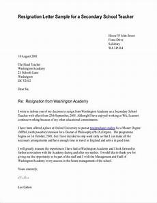 Letter Of Resignation To Parents From Teacher Free 11 Teacher Resignation Letter Samples And Templates