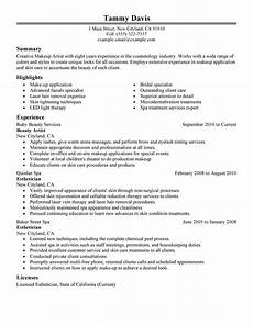 Sample Makeup Artist Resume Beauty Artist Resume Examples Created By Pros