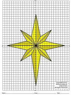 Graph Paper Star Star Of Bethlehem Christmas Coordinate Drawing