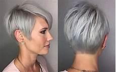 kurzhaarfrisuren graue haare bilder hairstyle grey hair fashion and