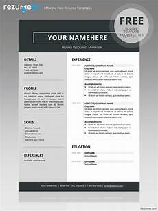 Clean Resume Template Free Jordaan Clean Resume Template
