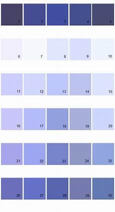 Periwinkle Blue Color Chart Valspar Tradition House Paint Colors Palette 19