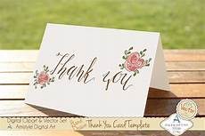 Free Thank You Templates Thank You Pink Rose Card Template Card Templates