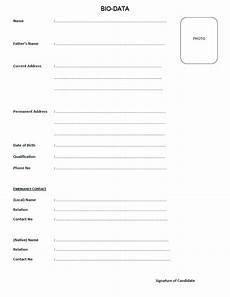 Biodata Form Download Biodata Print Png 726 215 941 Bio Data