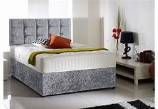 europa beds 4ft6 soul diamante crushed velvet bed