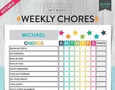 Chore List For Kids Kids Chore Chart Chore Chart For Kids Kids Chores Etsy