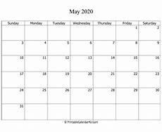 2020 Fillable Calendar May 2020 Editable Calendar With Holidays