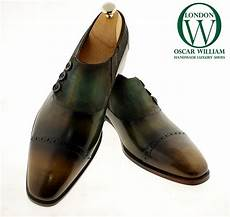 classic luxury handmade shoe green