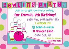 Free Printable Bowling Party Invitations For Kids Bowling Birthday Party Invitation Girl By Anchorbluedesign