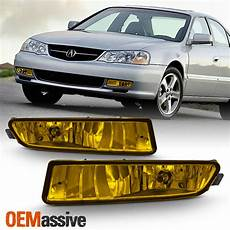 99 Acura Tl Fog Lights Fits 1999 2003 Acura Tl Type S Replacement Bumper Yellow