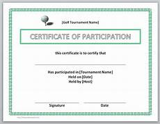 Free Certificates Of Participation 13 Free Certificate Templates For Word Microsoft And