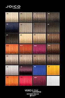 Joico Vero K Pak Hair Color Chart Joico Vero K Pak Chrome Colour Palette Joico Hair Color
