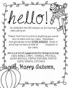 Fall Letters Template Parent Letter For A Fall Party Download And Customize For
