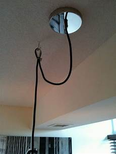 How To Hang A Pendant Light From Ceiling Swag A Pendant Light From Concrete Ceiling In A Condo