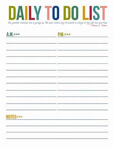 Printable Daily To Do List Template Free Printable To Do List Templates Latest Calendar