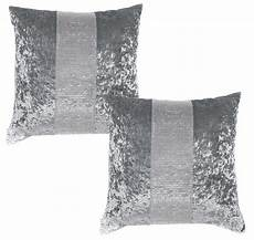 diamante crushed velvet bed runner cushion cover