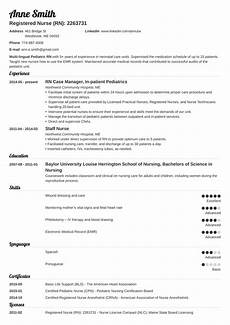 Nursing Template Resume 20 Nursing Resume Examples 2020 Template Skills Amp Guide