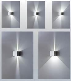applique led parete isyluce applique led cubo da parete 17w 3000k ip54 metallo