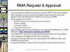rma qualification ppt rma procedure powerpoint presentation id 6852021