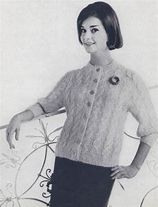 vintage knitting pattern to make 50s mohair cable cardigan