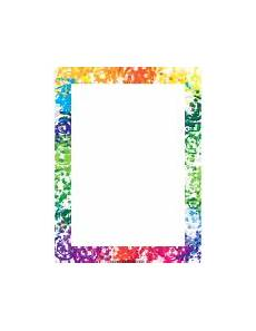 Newsletter Borders Printable Page Borders Page Borders Colorful Borders